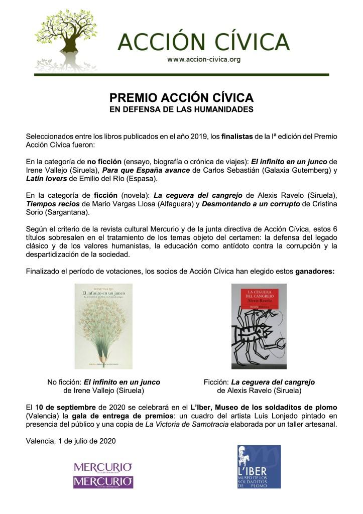 Anuncio reducido ganadores Premio Acción Cívica